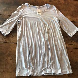 Hanro Grey Large Nightgown NWT